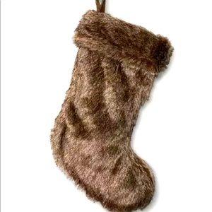 Target Wondershop Brown Fur Stocking 20x8
